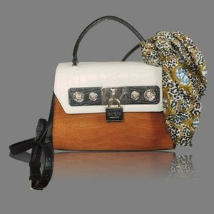 Guess Satchel with Scarf Handbag